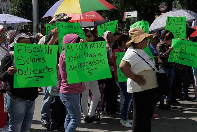 Nuevas protestas antorchistas colapsan la ciudad de Puebla