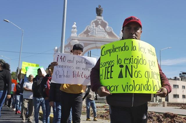Antorcha acusa de ilegal el freno a su partido; impugnará en TEPJF