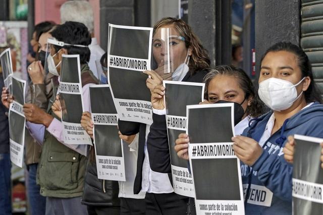 Más de 2 mil negocios apoyan protesta #AbrirOMorir en Puebla