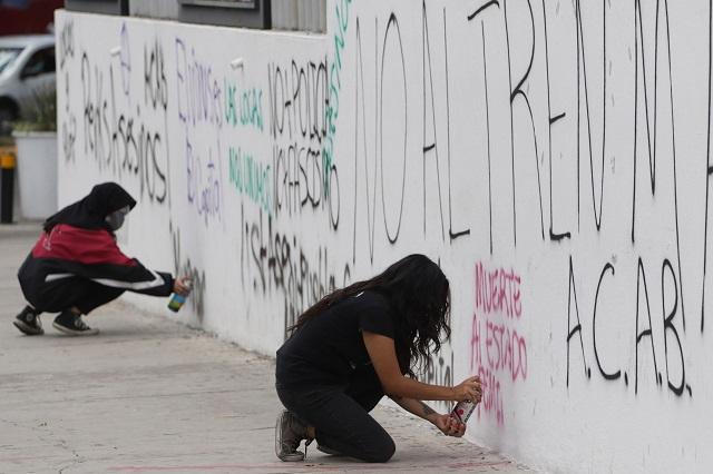 Hasta 10 años de cárcel piden por pintar inmuebles públicos