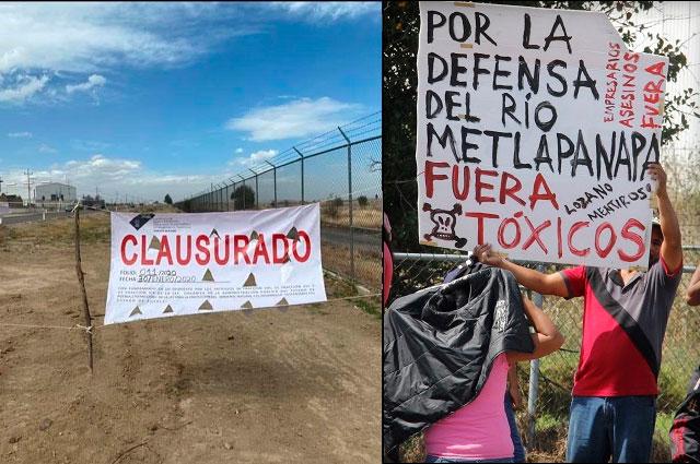 Tras protestas clausuran obra de colector textil en Juan C. Bonilla