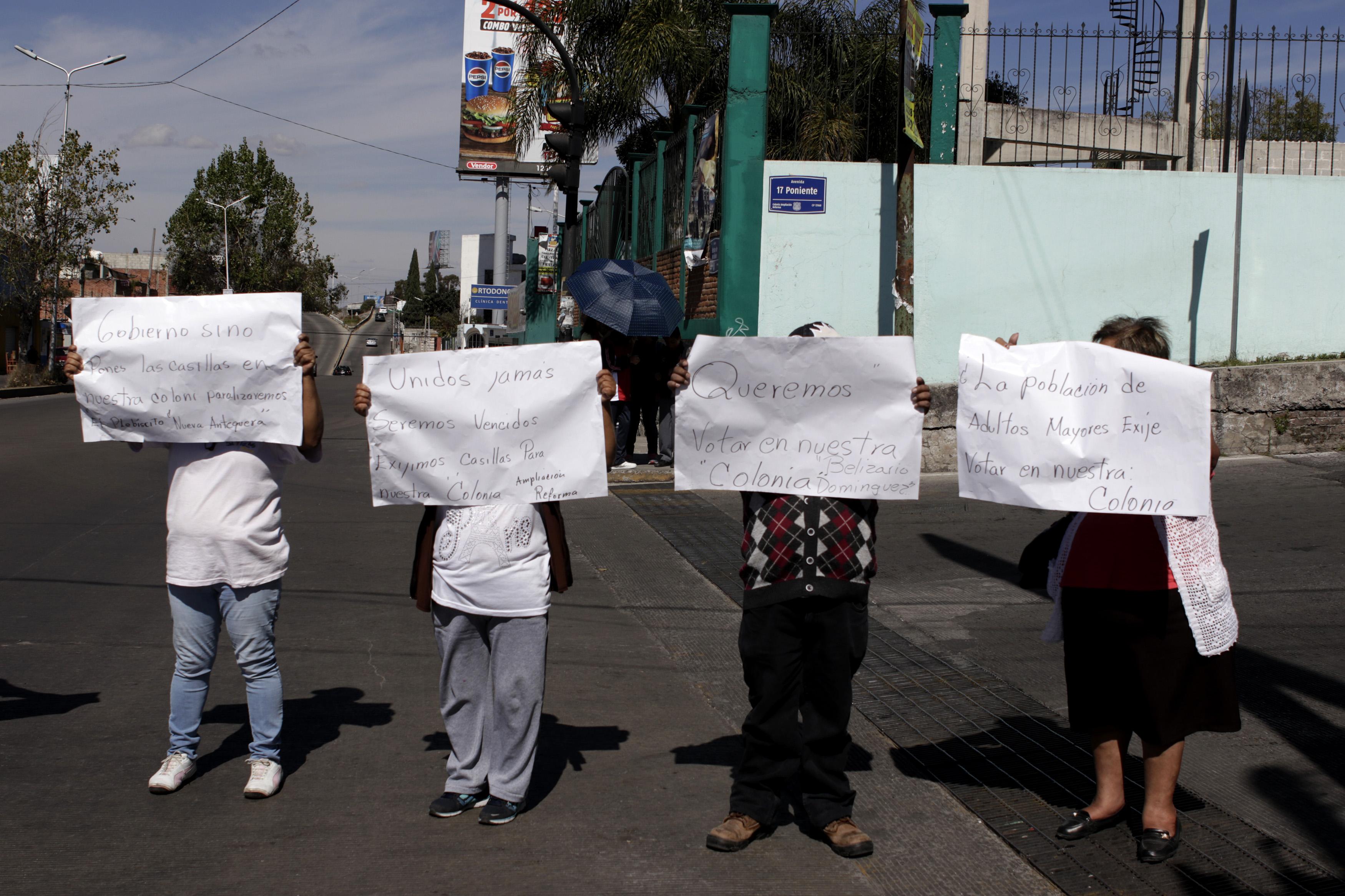 Denuncian colonias exclusión de elección en juntas auxiliares