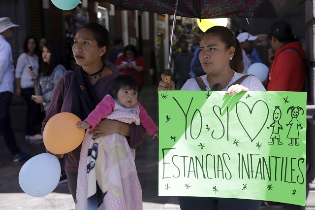 Logran amparo federal 58 estancias infantiles en Puebla
