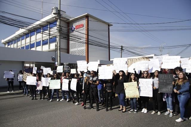 Desbordan Puebla marchas de estudiantes contra la inseguridad