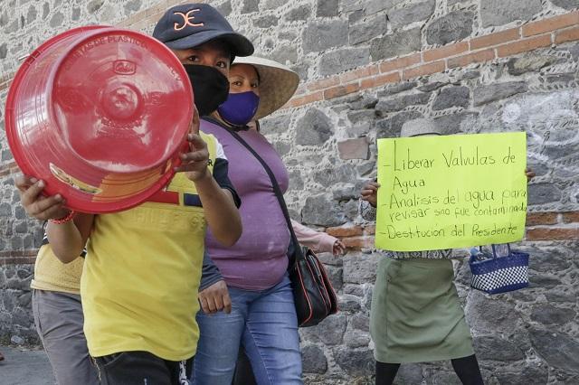 Ayuntamiento culpa al Congreso por falta de agua en juntas auxiliares