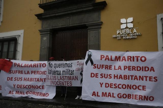 Convoy de vecinos de Palmarito exige salga el Ejército de la región