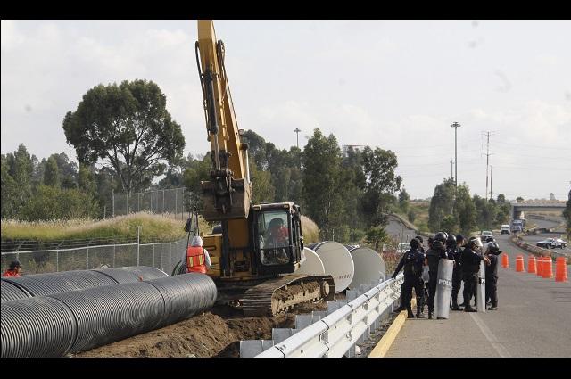 Gobierno pregonaba bondades de obra que clausuró en Huejotzingo