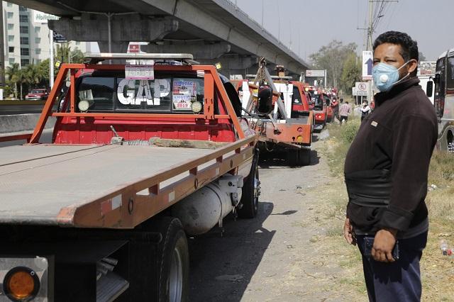 Marchan transportistas por carreteras de Puebla contra la inseguridad