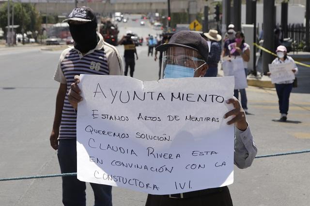 En protesta contra constructora bloquean terminal de RUTA