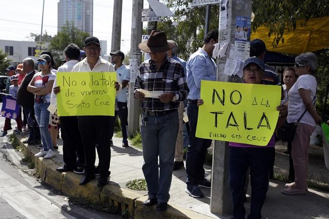 Suman más de 100 mil firmas contra tala en Vivero Santa Cruz