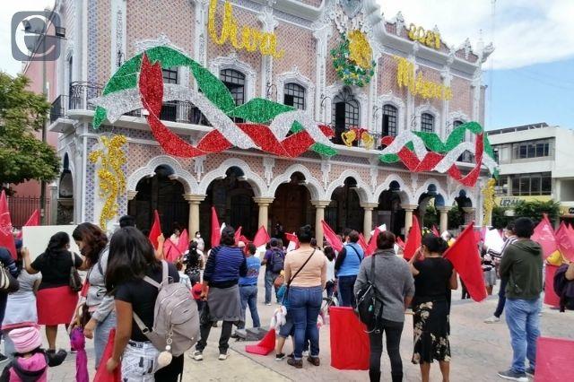 Antorchistas anuncian cierres en Tehuacán por obra a medias