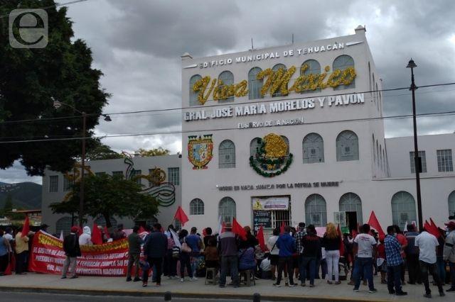 Otra vez… antorchistas exigen obra en Tehuacán