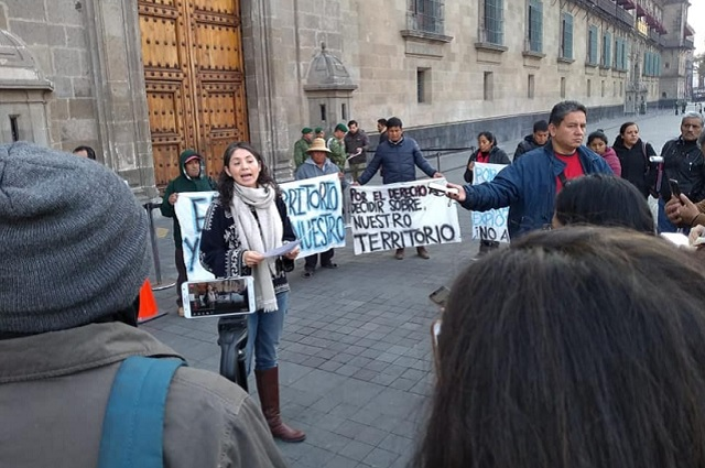 Reclaman poblanos a gobierno de AMLO por apoyar proyecto minero