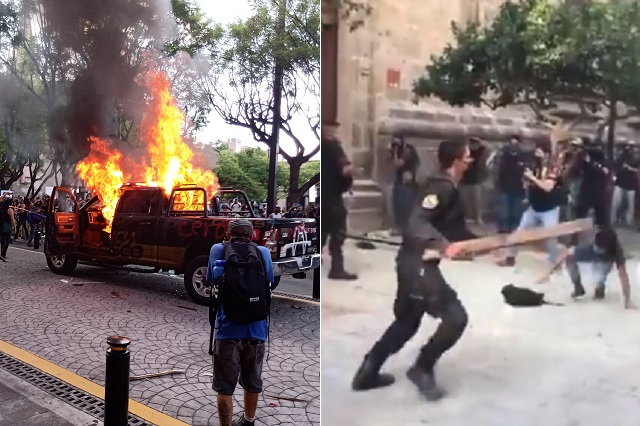 Así se vivieron las violentas manifestaciones por Giovanni en Jalisco