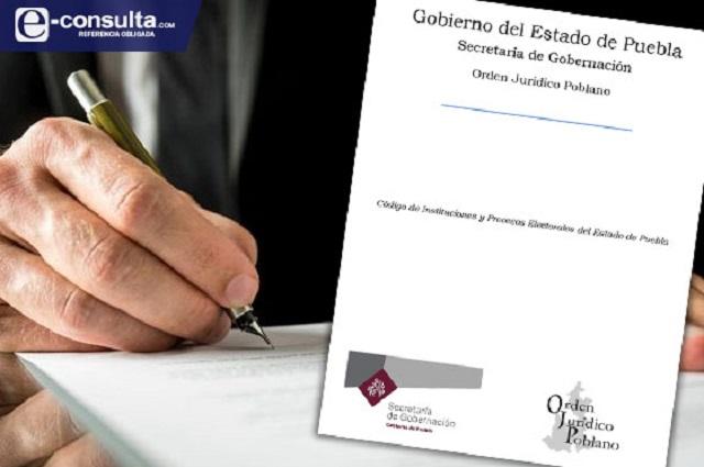 Parchan Código electoral para prohibir propaganda en Puebla