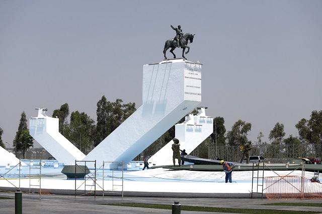 Resguarda Convenciones y Parques esculturas del mausoleo a Zaragoza