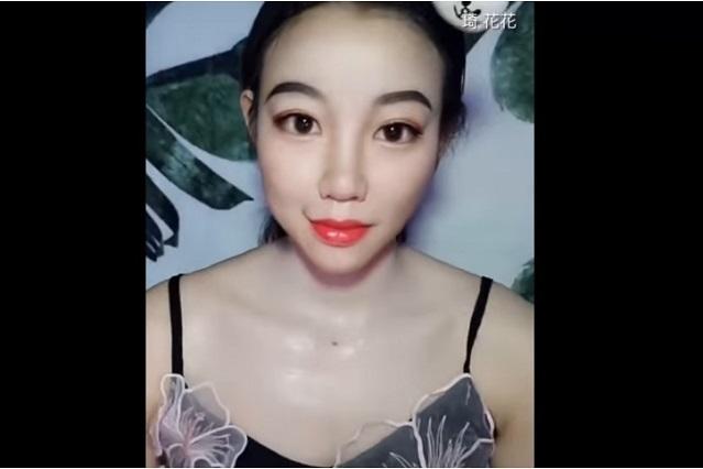 Mujer muestra en video como luce con y sin maquillaje