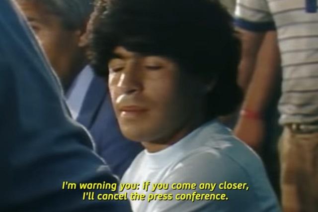 Revelan las primeras imágenes del documental de Maradona