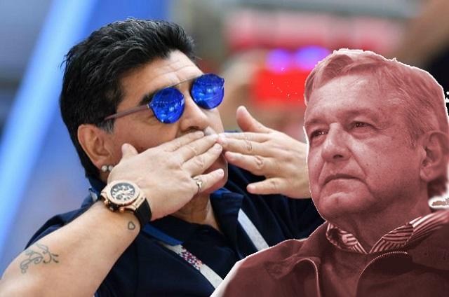 Maradona asegura que el triunfo de AMLO pone contentos a todos