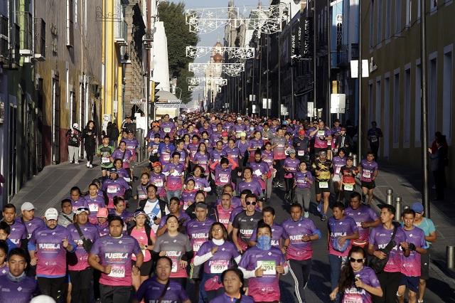 Más de 20 mil corredores en el Maratón Internacional de Puebla