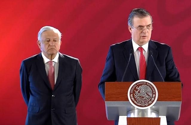 Si vas a EU, no queremos que pases por México, dice Ebrard a migrantes