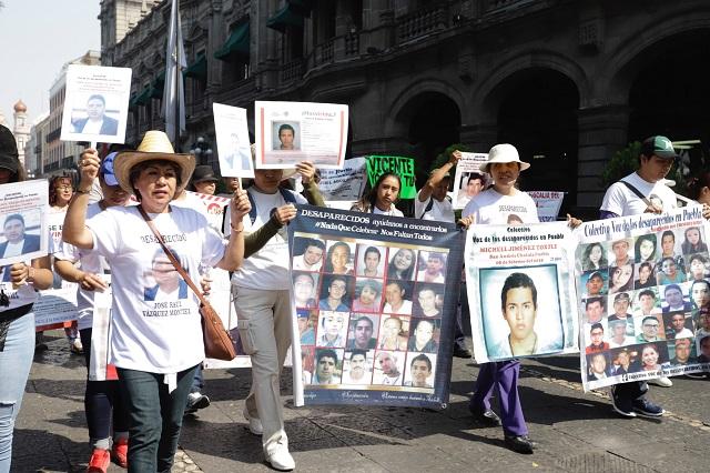 Madres de desaparecidos marchan y urgen a FGE a emprender búsquedas