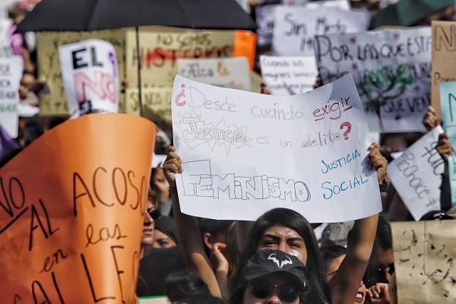 Respaldan Barbosa y Claudia Rivera manifestaciones por #8M en Puebla