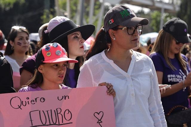 Garantizan libre tránsito a marcha por Día de la Mujer en Puebla