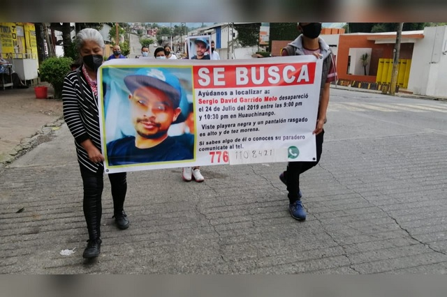 Marchan en Huauchinango y piden justicia para los desaparecidos