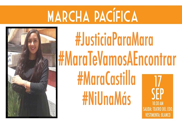 Alistan familia y amigos la marcha #MaraTeVamosAEncontrar