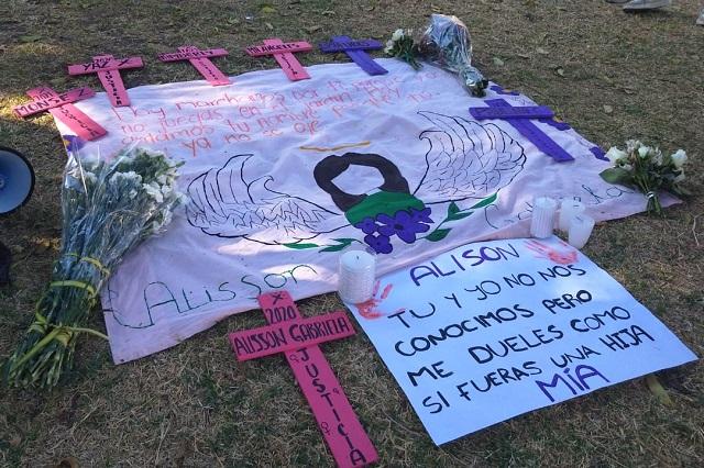 Exigen sentencia para feminicidas de Alisson a un año de su muerte