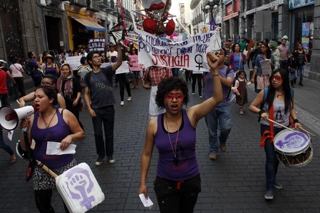 Anuncian la 8va Marcha de las Putas en Puebla