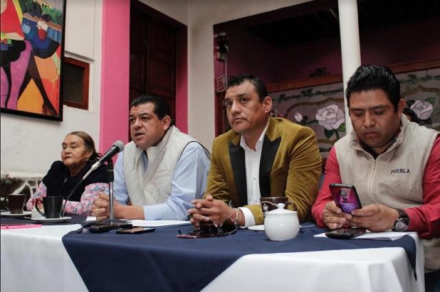 Harán mega marcha para liberar a líderes de tianguis de Texmelucan