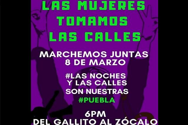 Colectivas feministas convocan a marcha de Día de la Mujer