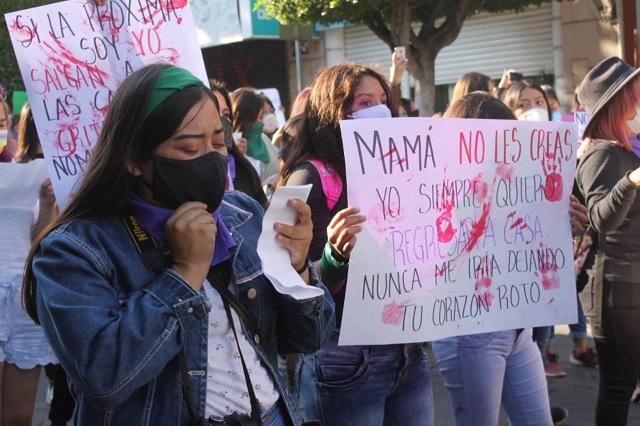 Mujeres de Tehuacán piden justicia para las víctimas de feminicidio