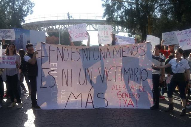 Estudiantes de la Ibero exigen Alerta de Género en Puebla