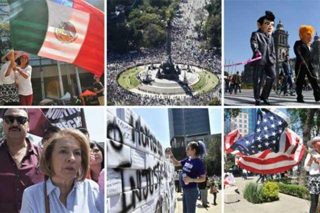 Marchas contra Trump evidencian agravios a México: Videgaray
