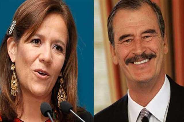 Si Margarita Zavala usa el apellido de Calderón, no ganará en 2018: Fox