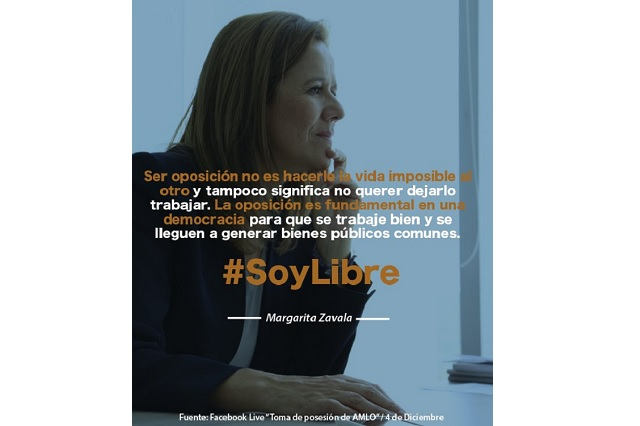 Margarita Zavala afirma que su partido no será su plataforma para 2024