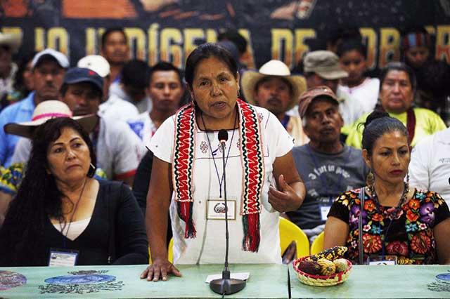 Marichuy, vocera indígena, se registrará mañana como candidata independiente
