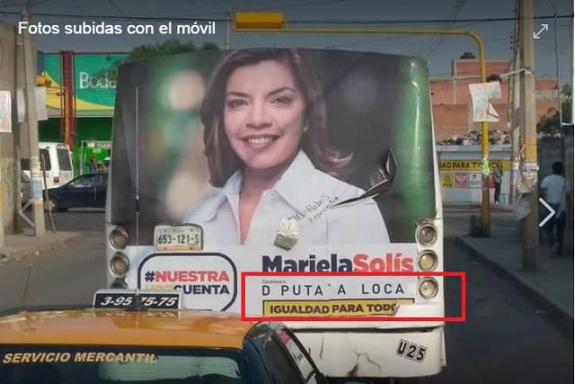 Mariela Solís presentará demanda ante el IEE por vandalismo de propaganda