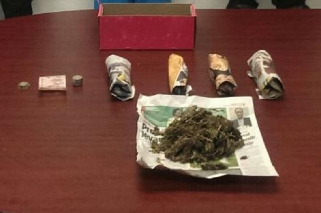 Decomisan 4 kilos de mariguana y detienen a vendedores