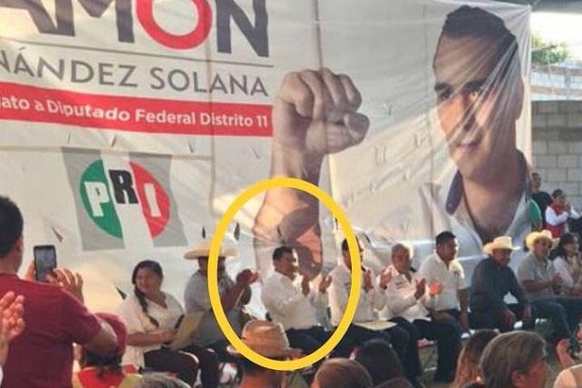 Reaparece Mario Marín en la campaña de diputados federales
