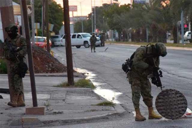 La Marina se enfrenta a tiros con delincuentes en Los Mochis