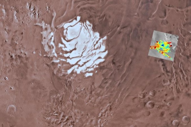 Descubren que hay agua en Marte: hay un lago de 20 km de ancho