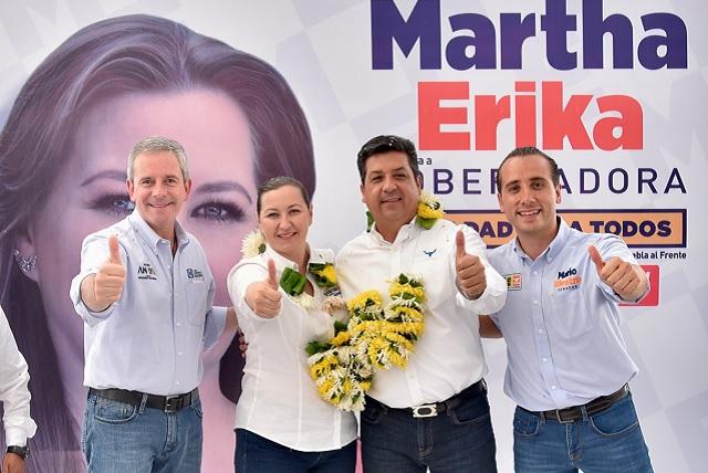 Acompaña gobernador de Tamaulipas a Alonso en Puebla