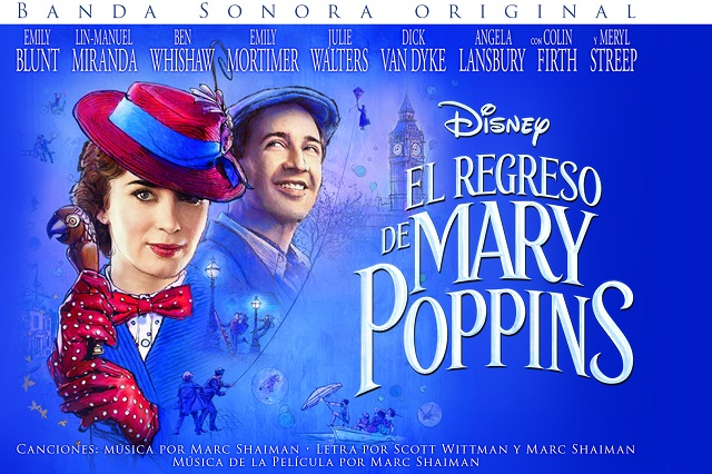 Ya está disponible banda sonora de El Regreso de Mary Poppins