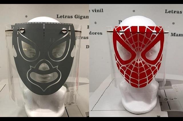 Por Covid-19, crean mascaras protectoras con diseños de superhéroes