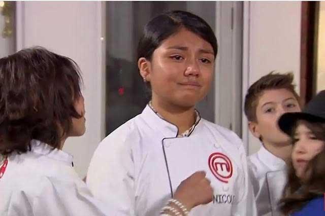 Se va Nicole y Benito llora en la noche más triste de MasterChef Junior