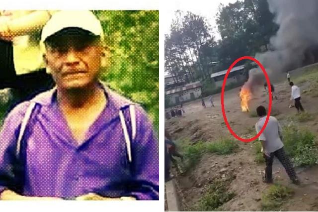Comunidad quema vivo a experto en medicina natural por creer que era brujo